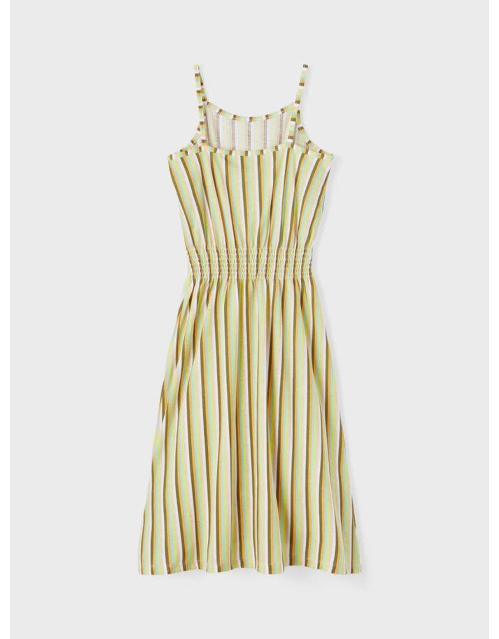 Name It Lange spaghettibandjes jurk met streepjes