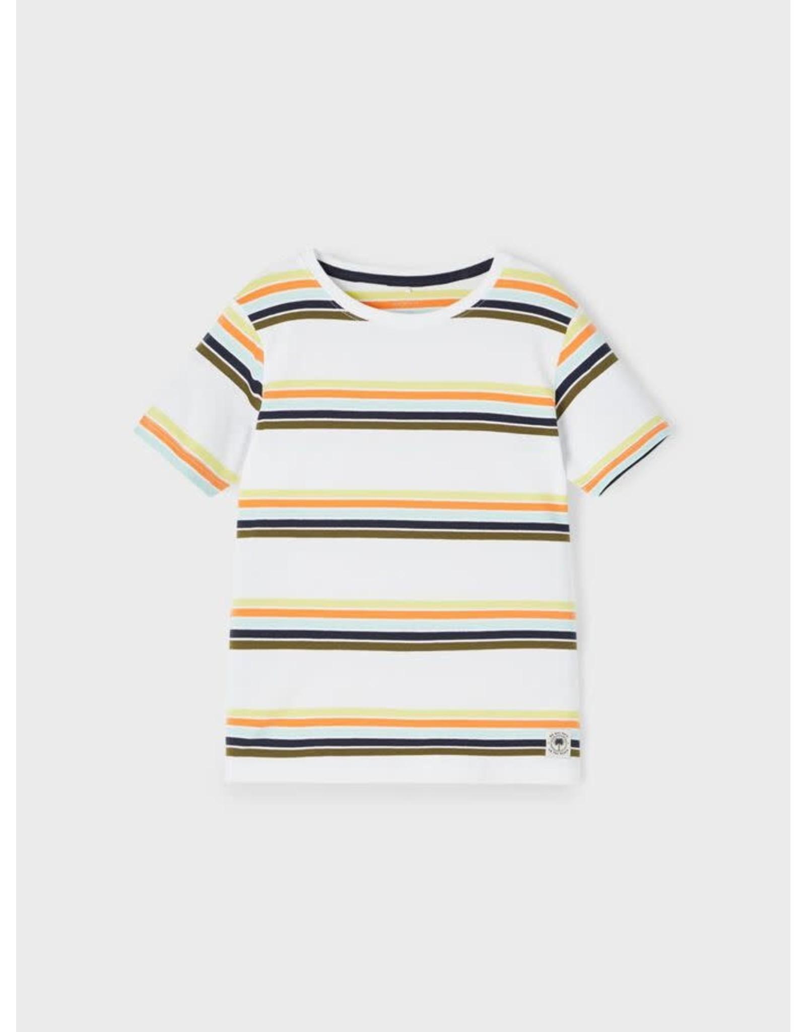 Name It Witte t-shirt met vrolijke streepjes