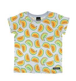 Villervalla Grijze t-shirt met meloenen en streepjes
