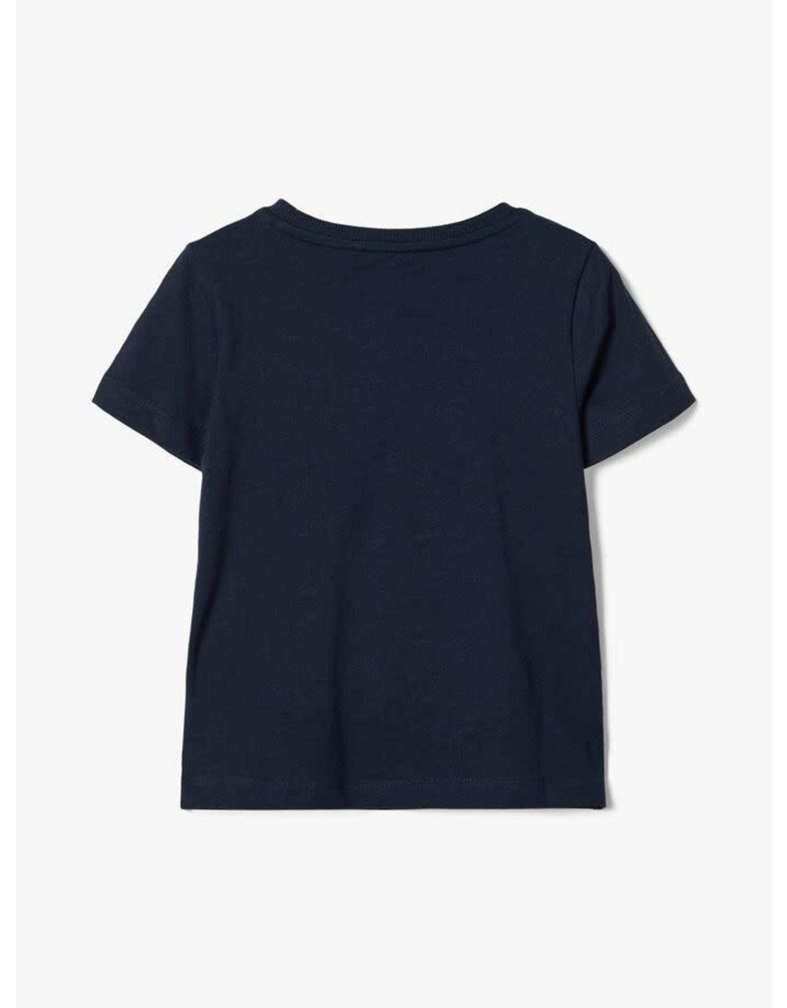 Name It Donker blauwe basis t-shirt met borstzakje