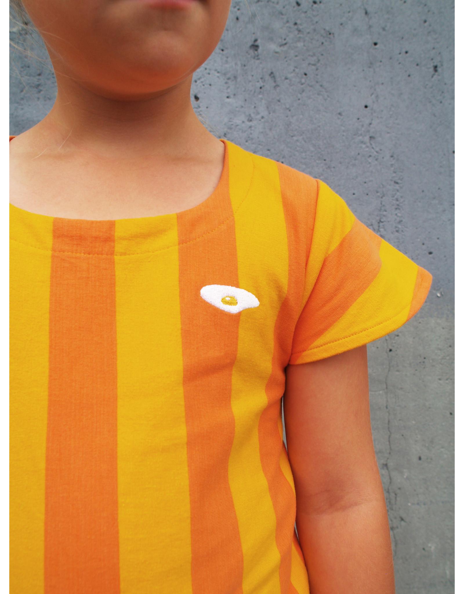 Moromini Vrolijk geel gestreept kleedje