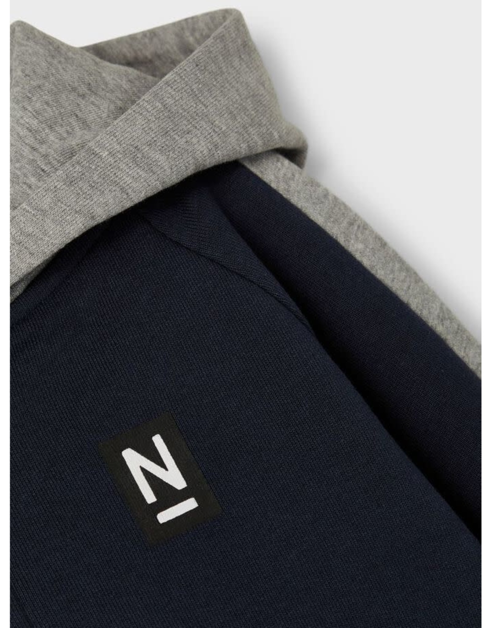Name It Colour block hoodie trui met rits en kap