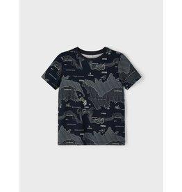 Name It Donkerblauwe t-shirt met landkaart