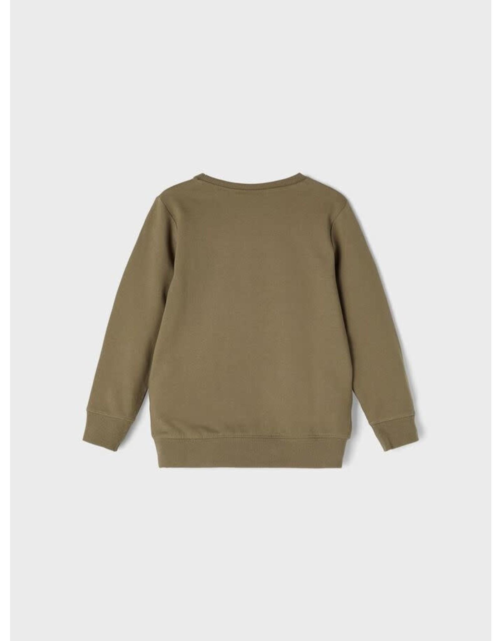 Name It Kaki sweatshirt trui voor de kleine jongens