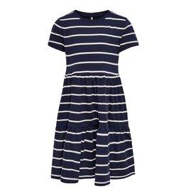 KIDS ONLY Gestreept donkerblauw los vallend kleedje
