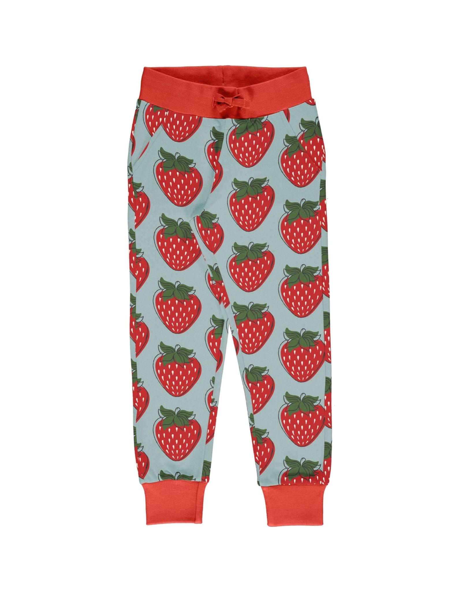 Maxomorra Jogging broek met aardbeien print van Maxomorra