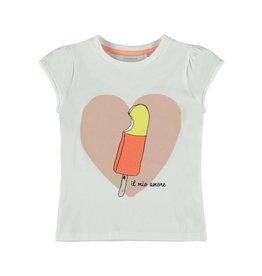 Name It Witte meisjes t-shirt met heerlijk ijsje