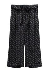 Name It Brede losse donkerblauwe broek met bloemetjes