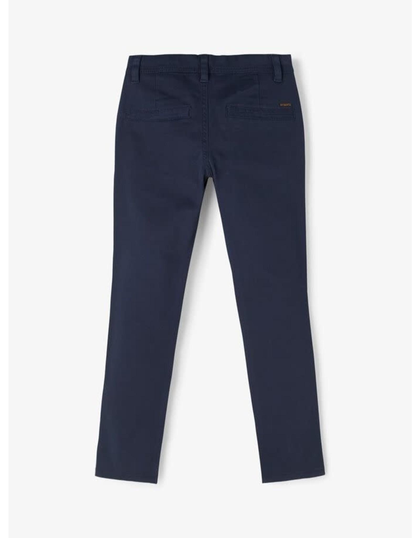 Name It Donkerblauwe katoenen chino broek