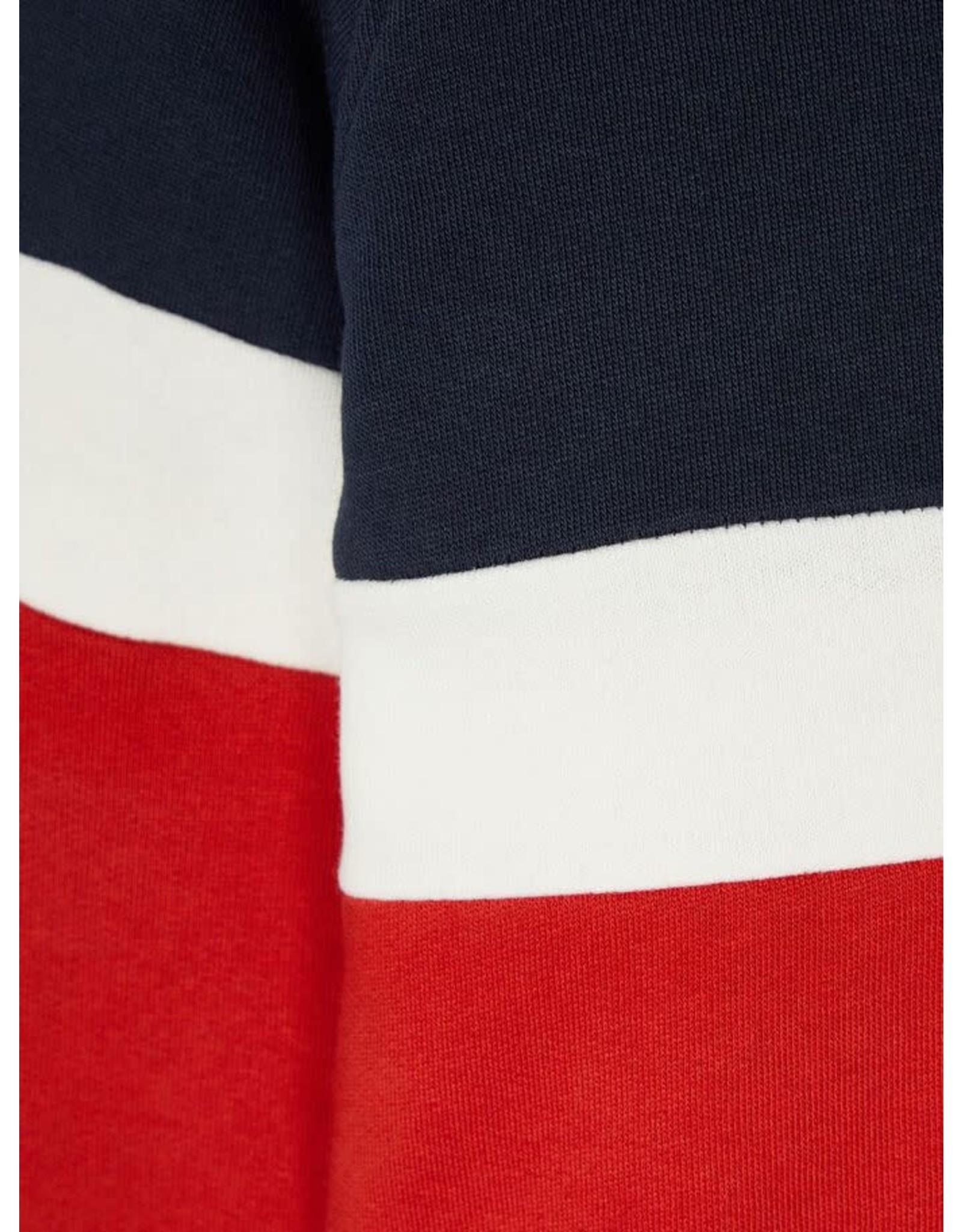 Name It Blauw-rode colour block trui (tot maat 110)
