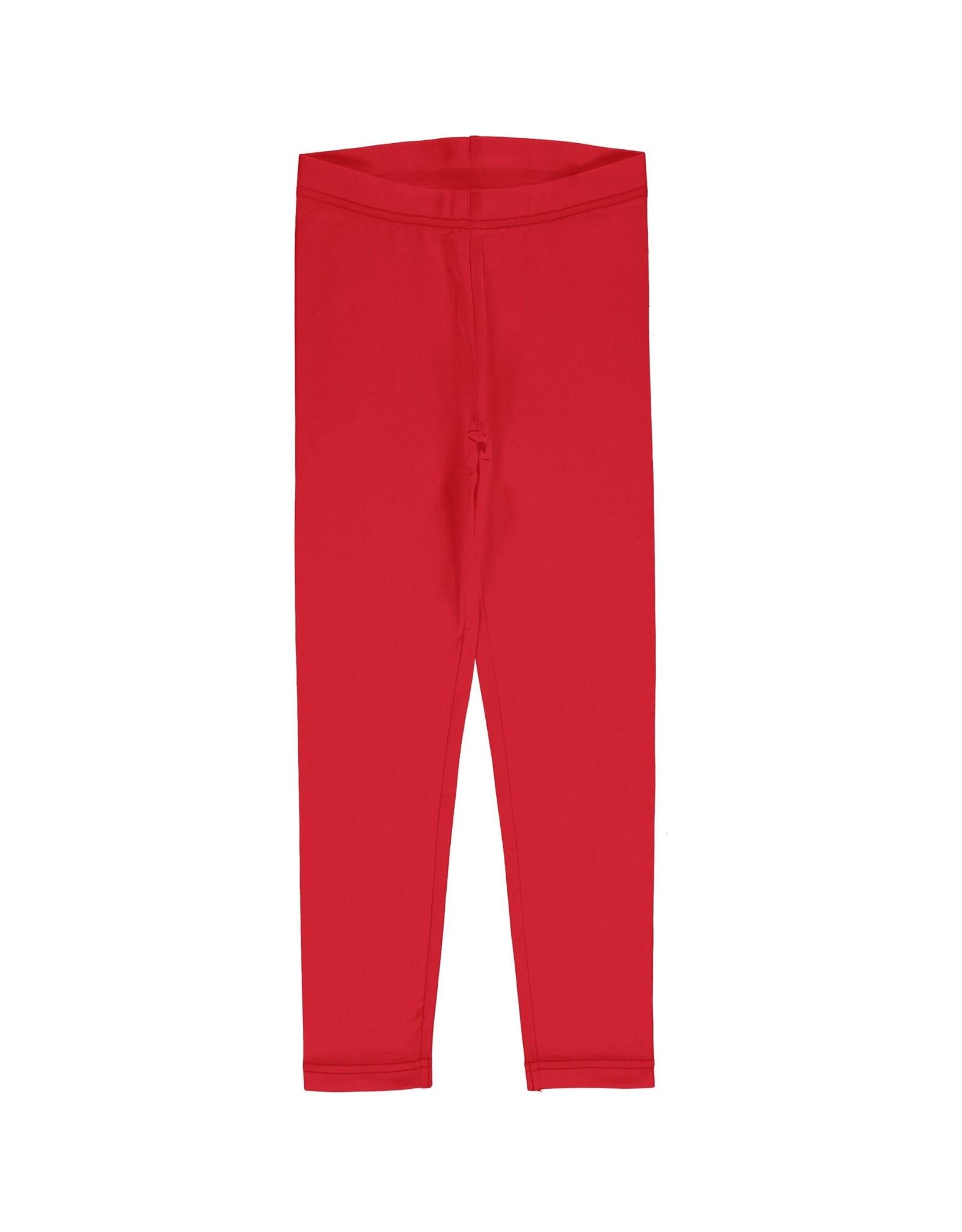 Maxomorra Leggings effen rood