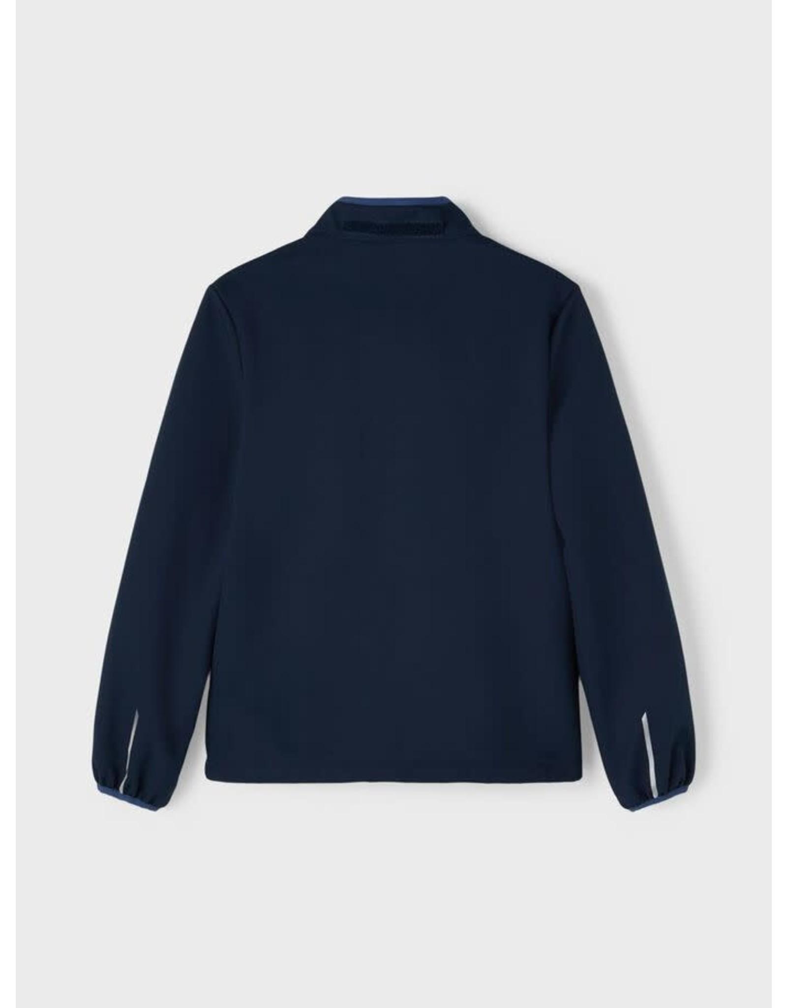Name It Donkerblauwe waterbestendige softshell jas