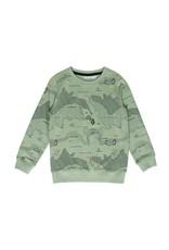Name It Groene trui voor jongens met wereldkaart