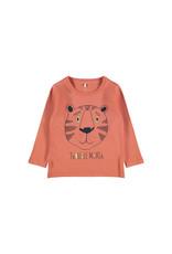 Name It Abrikoos kleurige unisex t-shirt met tijger