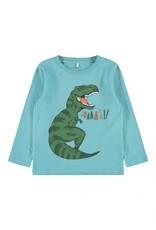 Name It Lichtblauwe t-shirt met grote dinosaurus