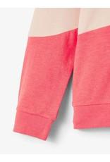 Name It Roze colour block sweater trui