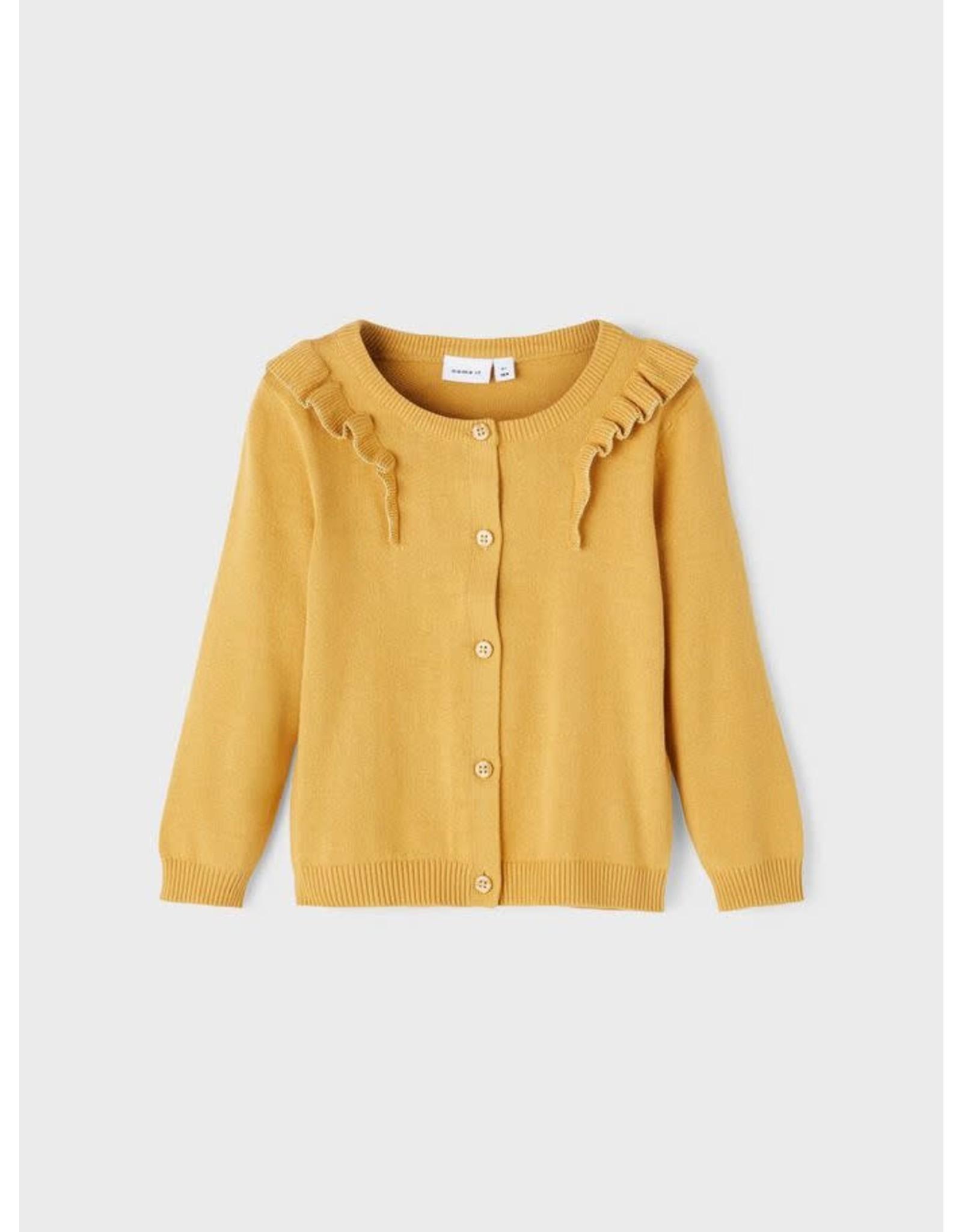 Name It Zacht geel vestje voor de kleine meisjes