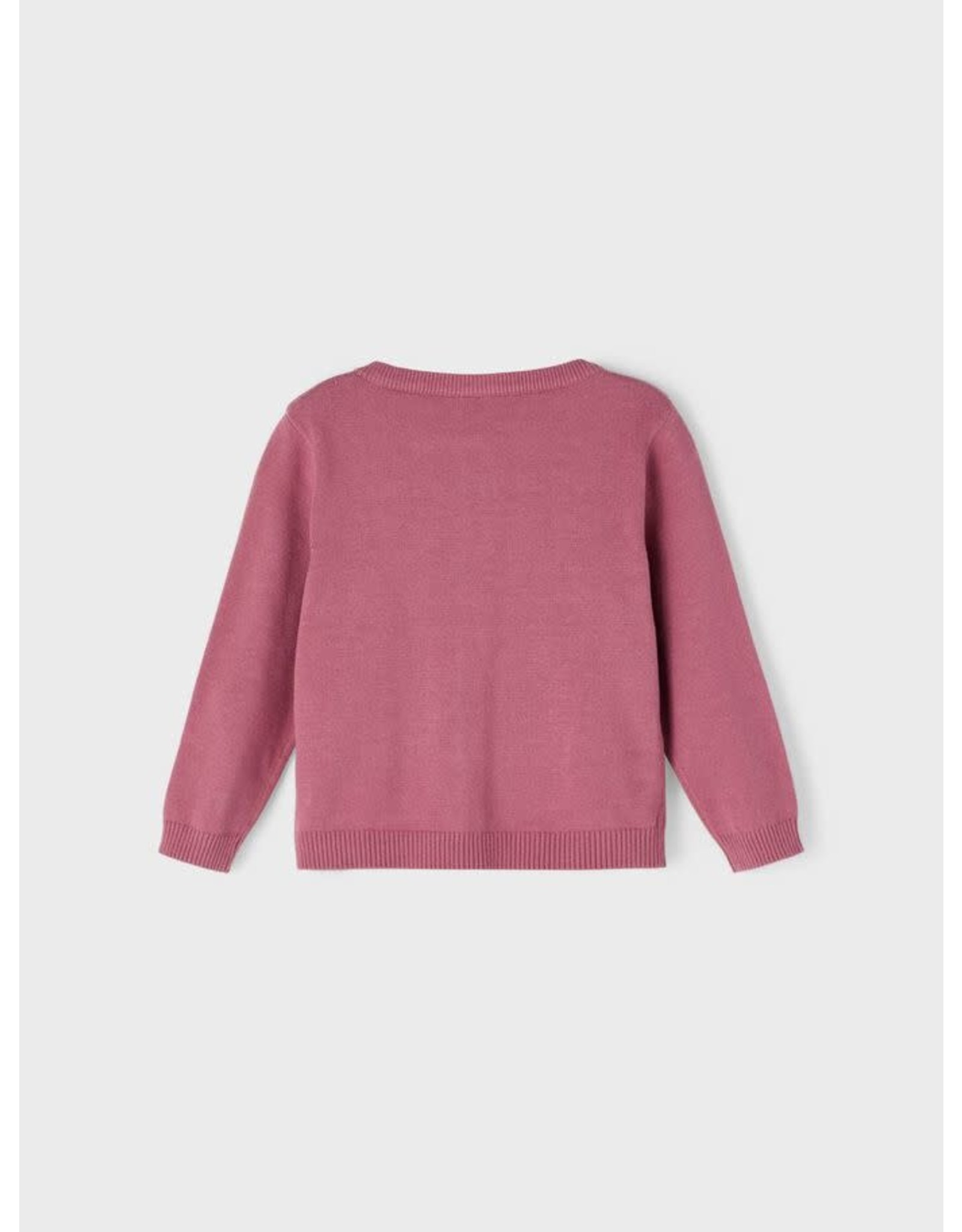 Name It Roze vestje met ruches
