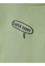 "Name It Zacht groene trui ""Super Happy"""