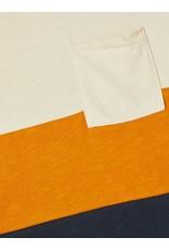 Name It Colourblock t-shirt thai curry -blauw