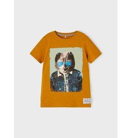 Name It Roest gele t-shirt met coole beer