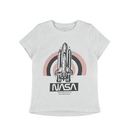 Name It Witte NASA t-shirt voor meisjes