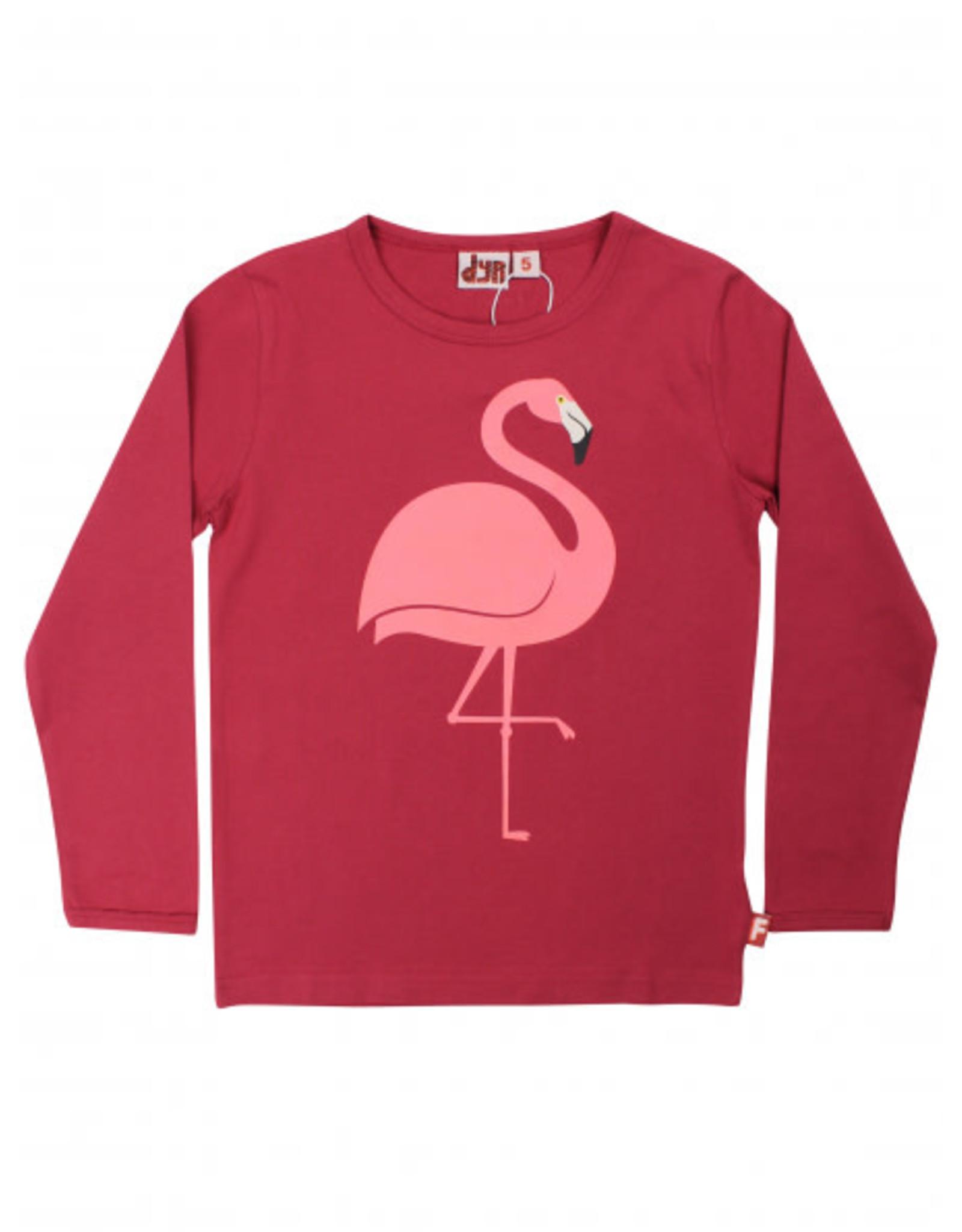 Dyr Roze t-shirt met flamingo