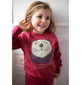 Dyr Roze trui met otter