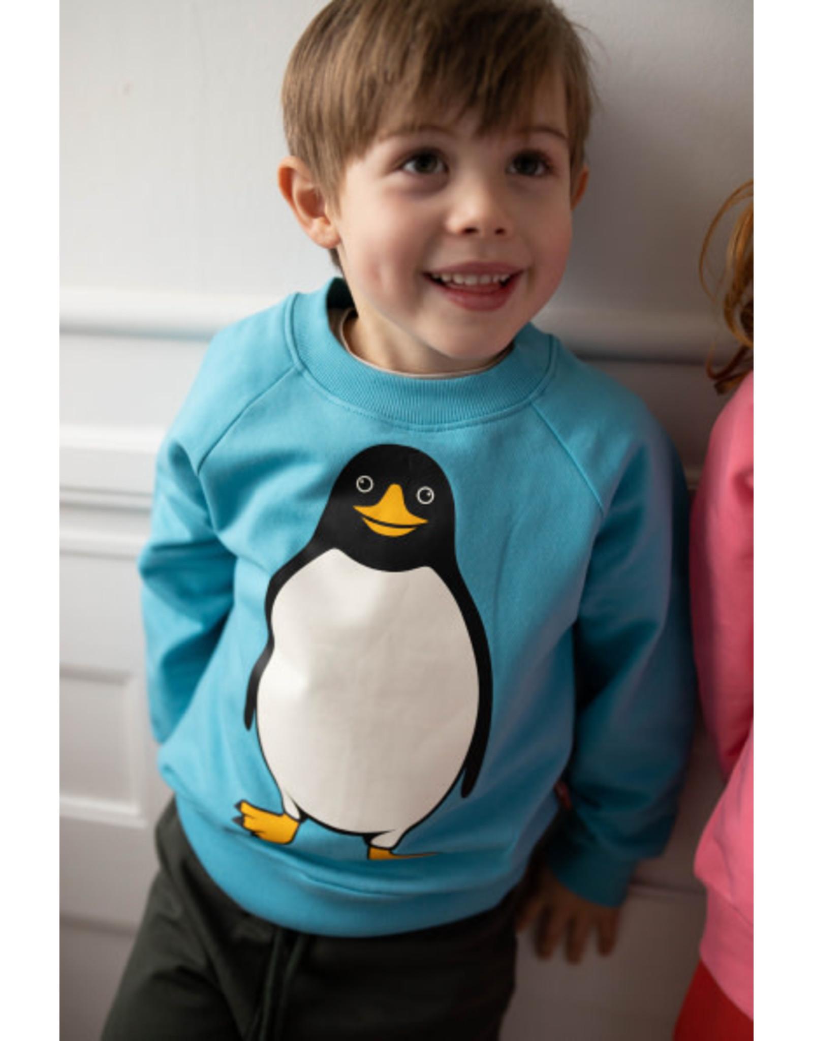 Dyr Blauwe trui met pinguïn