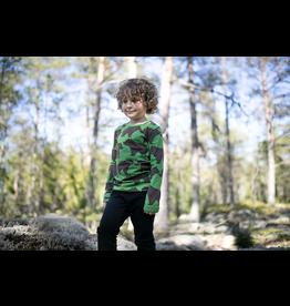 ULJAS groene t-shirt met bruine beren