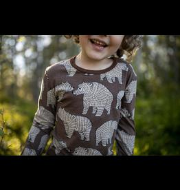 ULJAS Bruine t-shirt met beren print