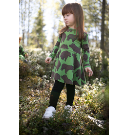 SINNA Skater dress - Ursa  - forest choco