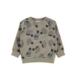 Name It Super stoere trui met nijlpaarden print