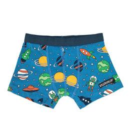Villervalla Blauwe boxer short met raketten en planeten