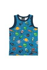 Villervalla Mouwloze t-shirt met raketten en planeten
