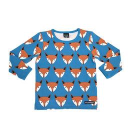 Villervalla Blauwe t-shirt met vossenprint