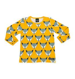 Villervalla Gele t-shirt met schattige vossen