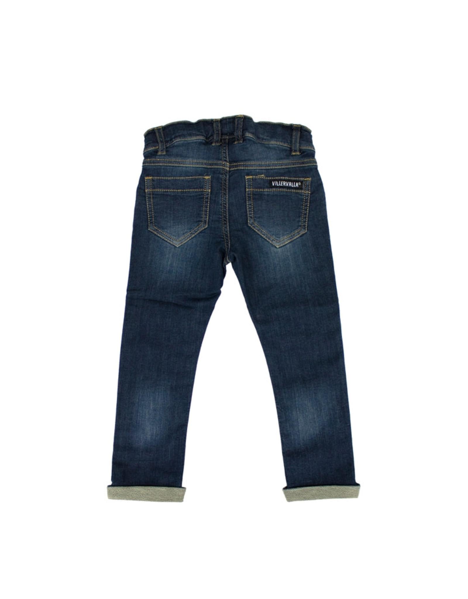 Villervalla Ultra zachte slim fit unisex jeans zonder knop