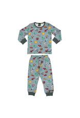 Villervalla Grijze winter pyjama met ruimte print