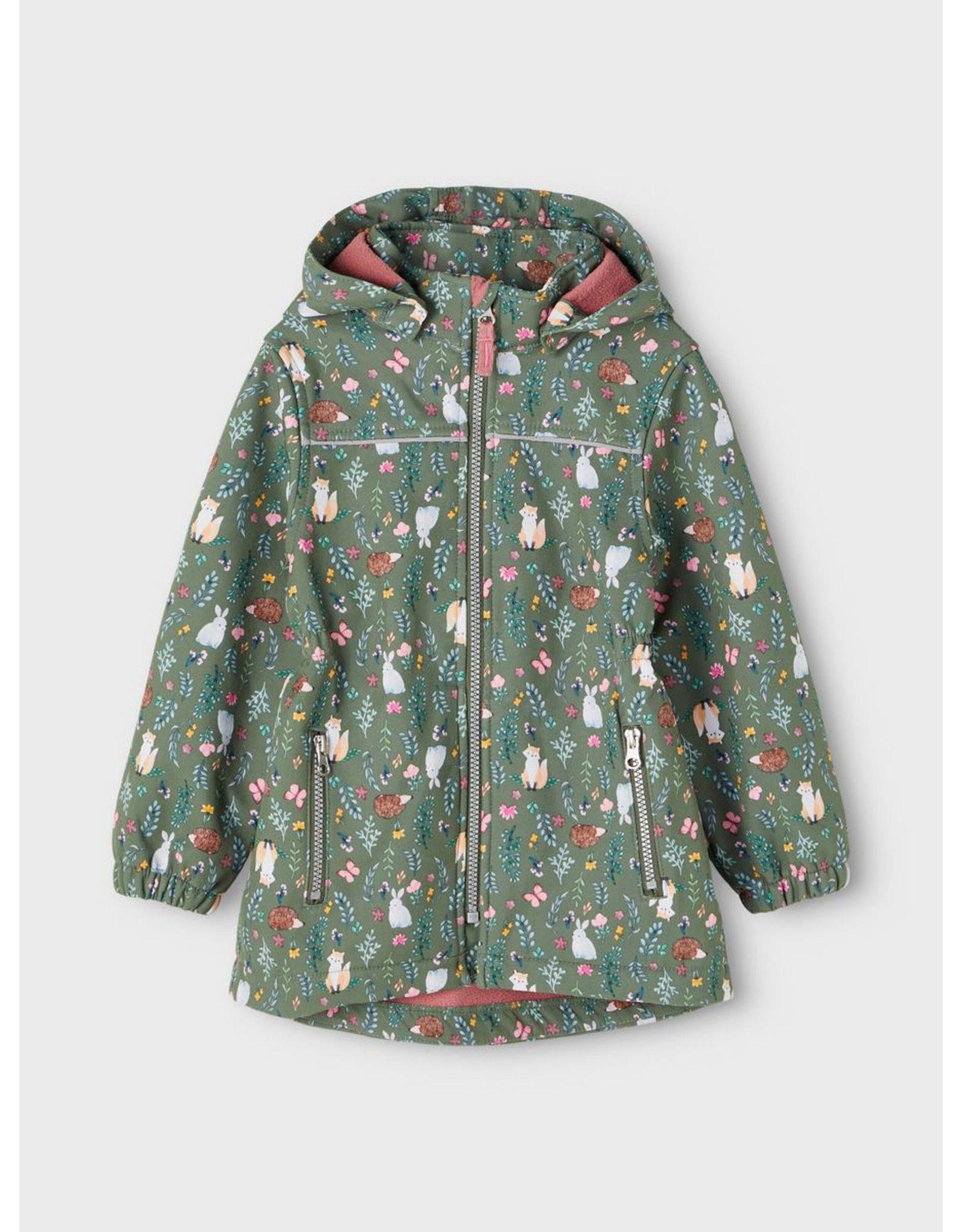 Name It Waterdichte softshell jas met konijntjes en vossen