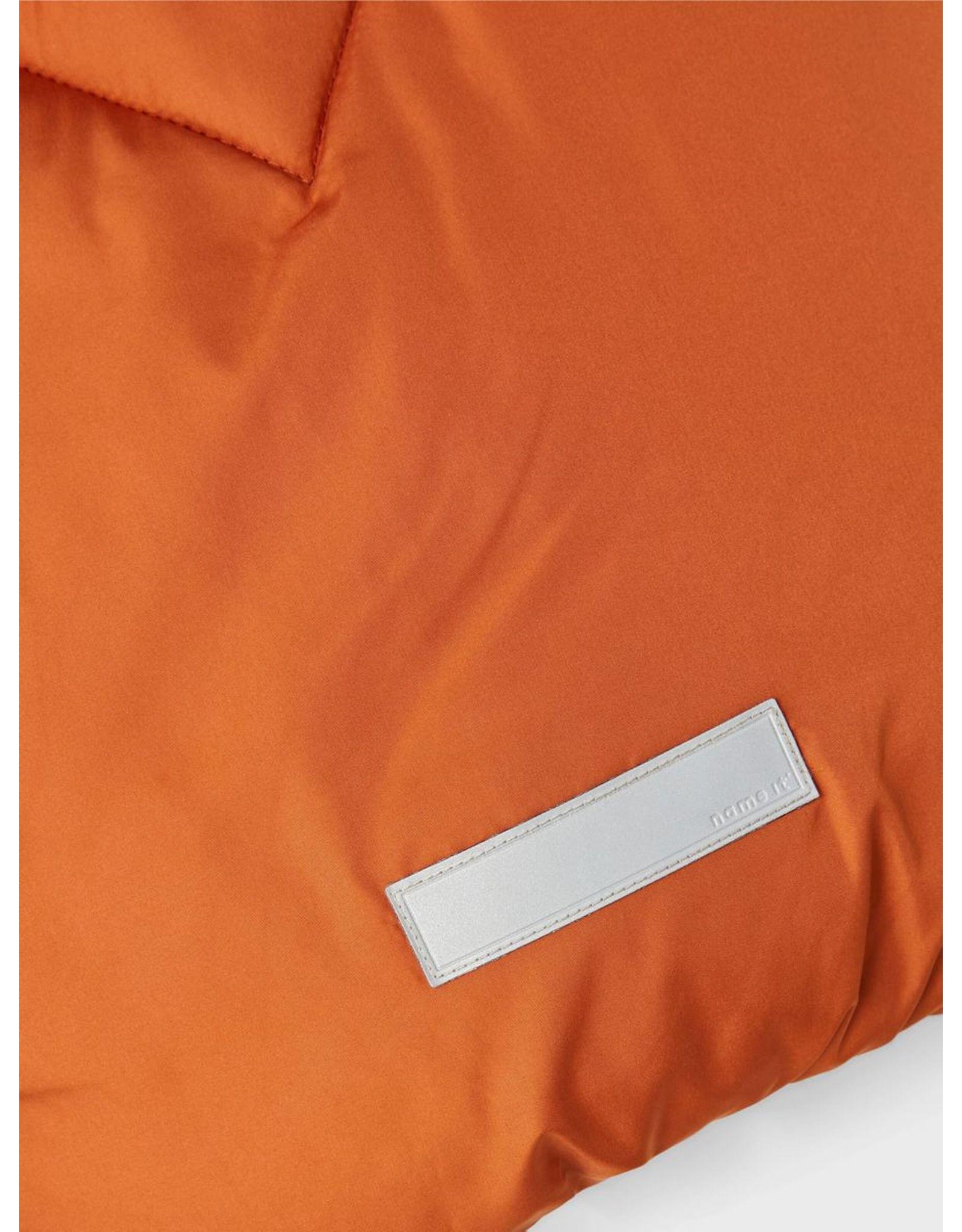 Name It Oker kleurige warme winter puffer jas