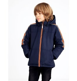 Name It Warme winterjas met zijstreep