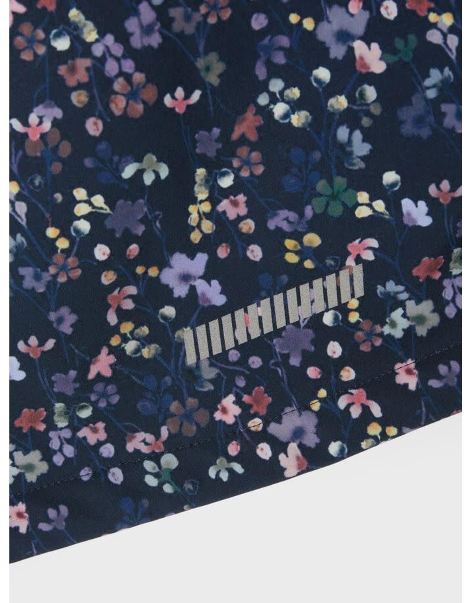 Name It Meisjes donkerblauwe softshell met bloemen