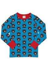 Maxomorra Lange mouwen t-shirt met wasberen