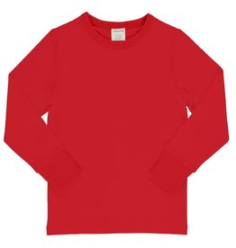 Maxomorra Effen rode t-shirt met lange mouwen