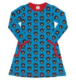 Maxomorra A-lijn kleedje met wasberen print