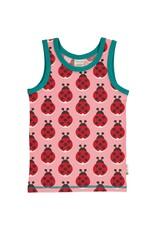 Maxomorra Mouwloze t-shirt met lieveheersbeestjes print