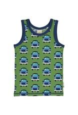 Maxomorra Mouwloze t-shirt met auto print