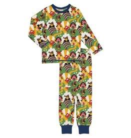 Maxomorra Unisex pyjama met retro boerderij print