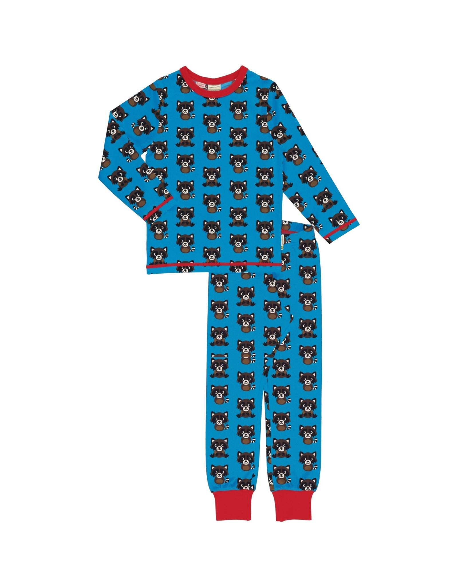 Maxomorra Winter pyjama unisex met wasberen